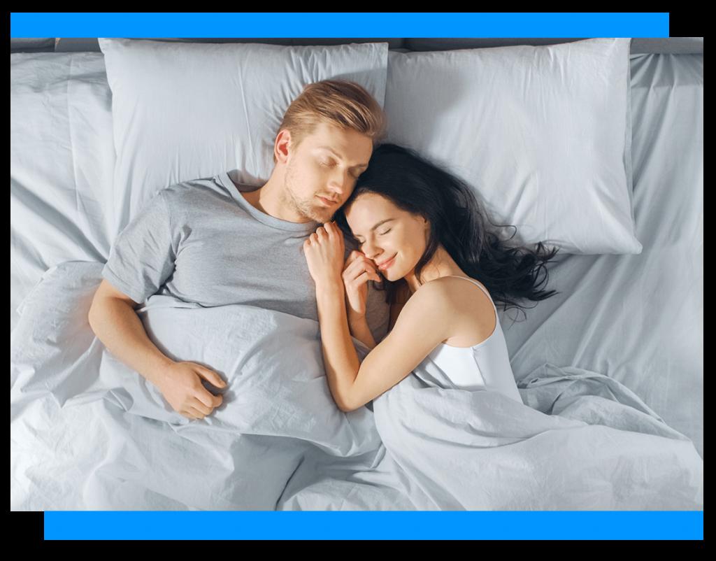 couple having a good night sleep