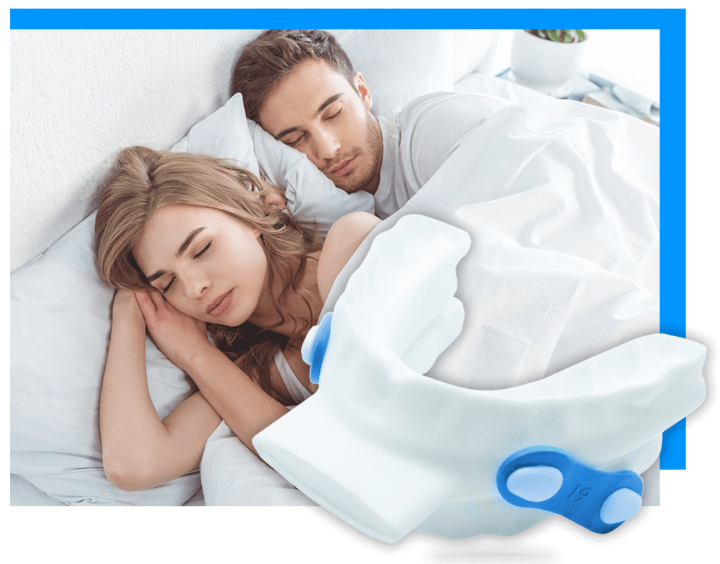 couple having a good night sleep with Oventus O2 Vent